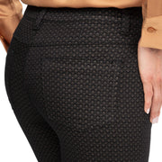 wonderjeans Regular Black Toffee Diamond Print