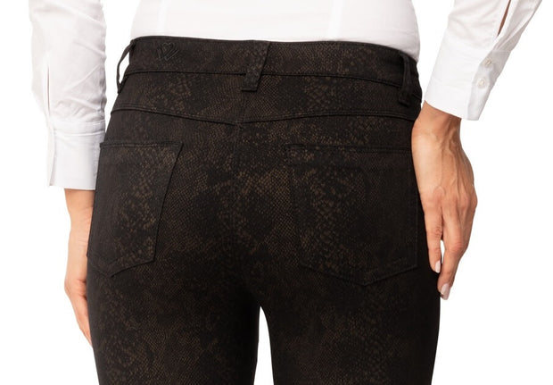 wonderjeans Regular Black Camel Reptil Print