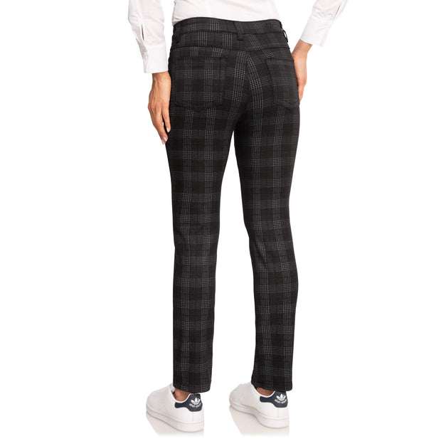 wonderjeans Regular Black Grey Check Print