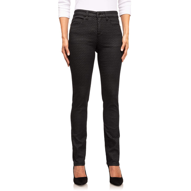 wonderjeans Regular Black Grey Diamond Print
