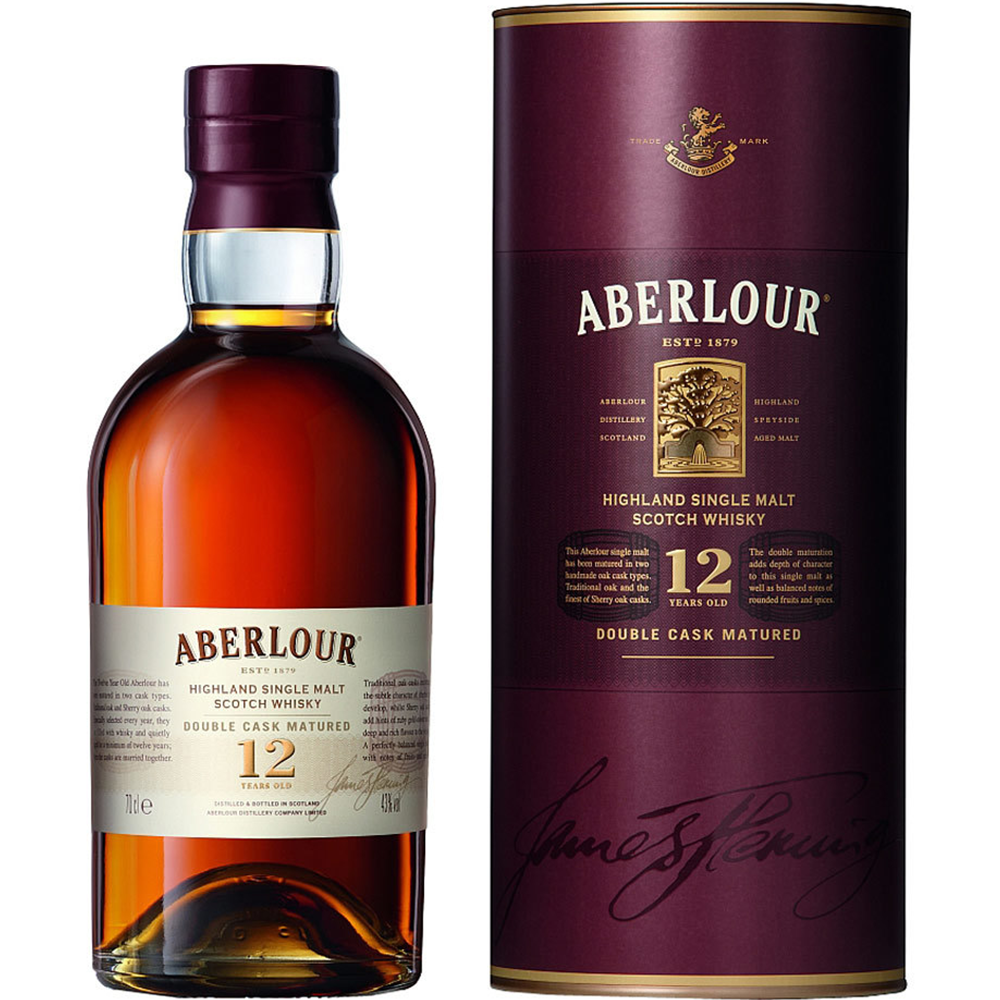 Aberlour Highland Single Malt Scotch Whisky 12 Years (750ml Bottle)
