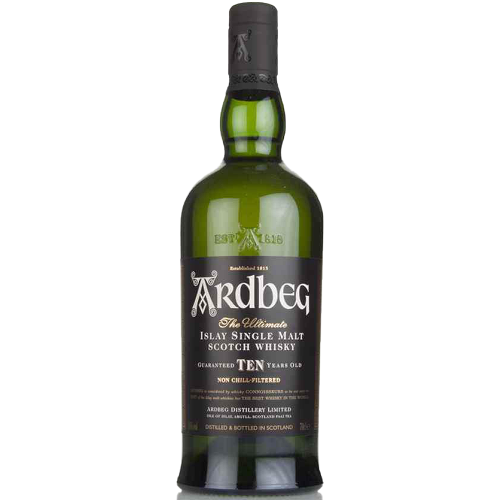 Ardbeg Islay 10 Year Single Malt Scotch Whiskey - (750ml Bottle)