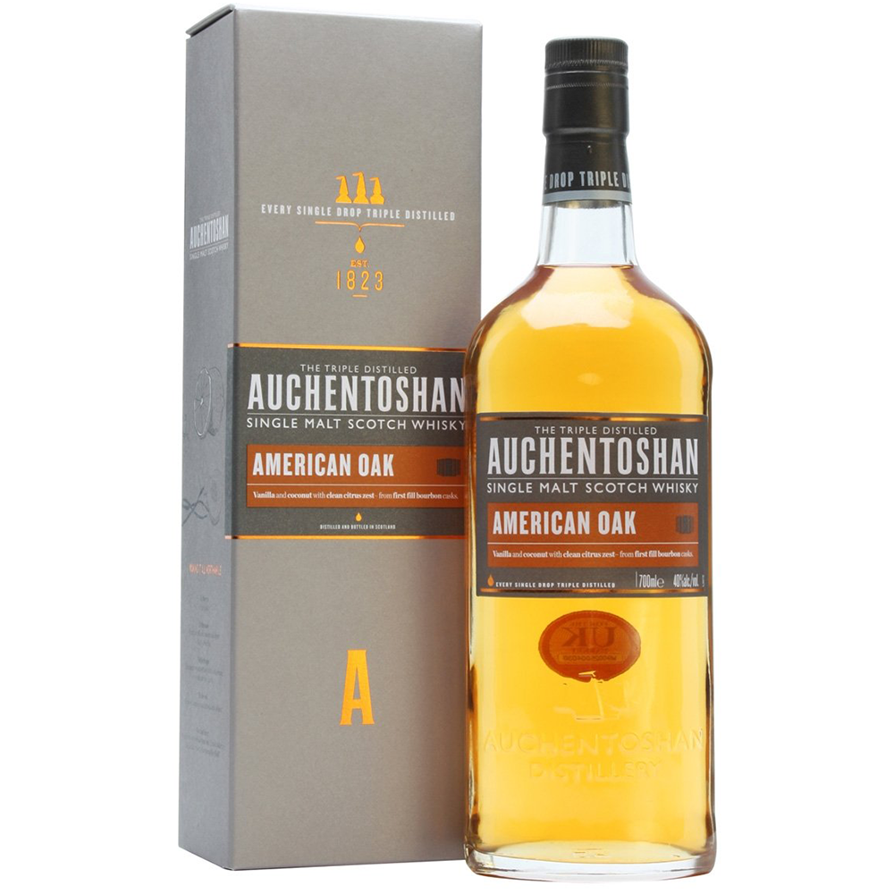 Auchentoshan Single Malt Scotch Whisky American Oak (750ml bottle)