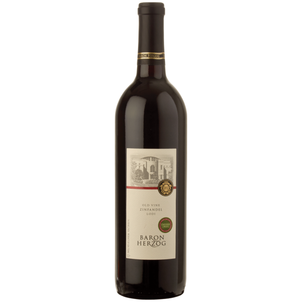 Baron Herzog Old Vine Zinfandel 2015 Kosher Red Wine - (750ml)