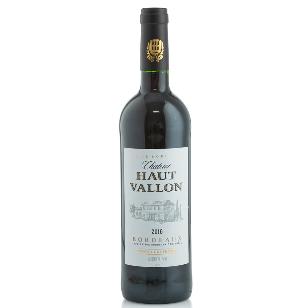 Chateau Haut Vallon Bordeaux 2016 Kosher Red Wine - (750ml)