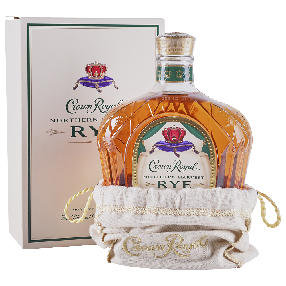 CROWN ROYAL Blended Canadian Whisky 750 mL Empty Liquor Bottle Whiskey