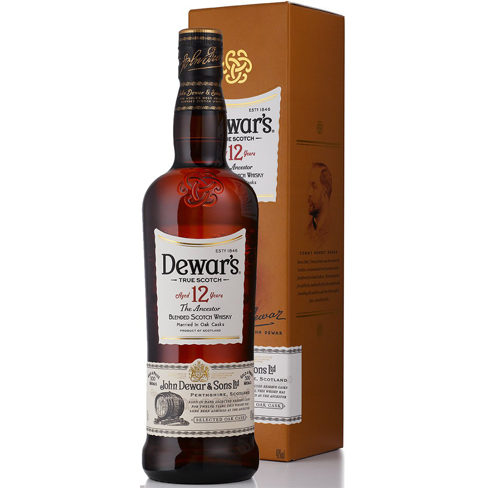 Dewar's Blended Scotch Whisky 12 Years (750ml)