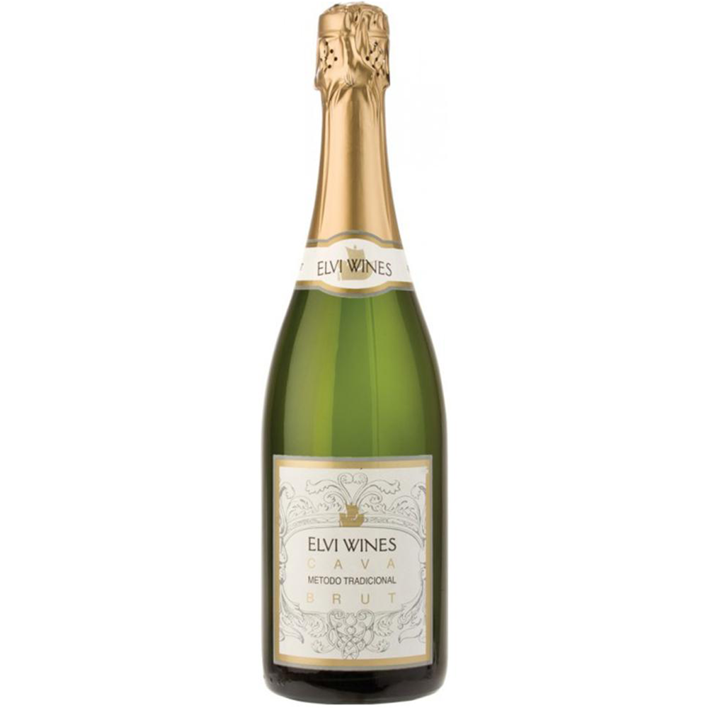 Elvi Wines Cava Brut Kosher White Wine - (750ml)