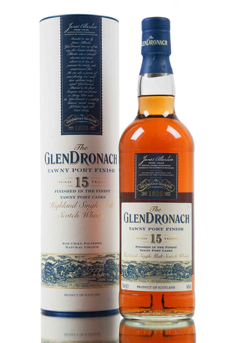 Glendronach Highland Single Malt Scotch Whiskey Tawny Port Finish 15 Year - (750ml Bottle)