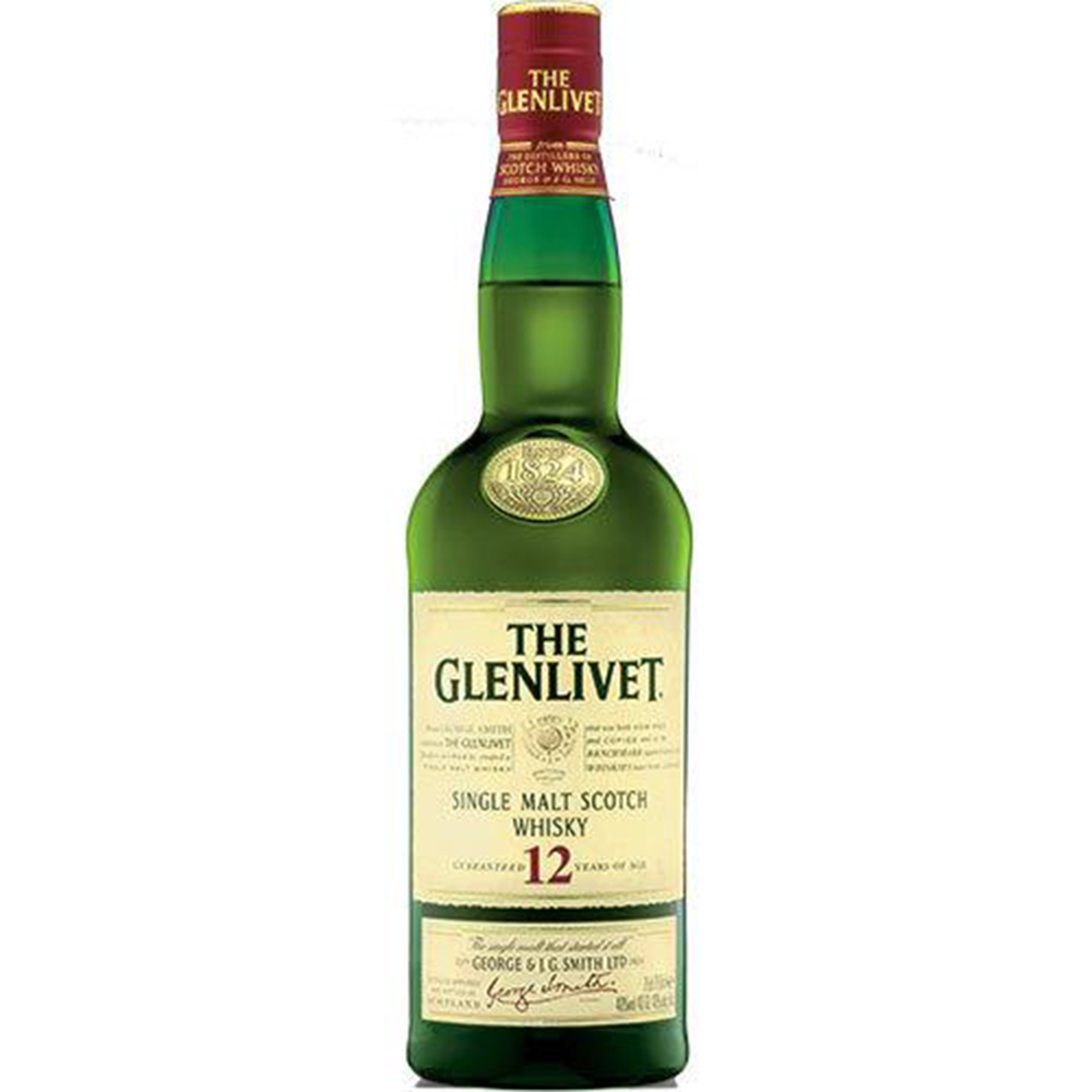 Glenlivet 12 Years Single Malt Scotch Whisky (750ml)