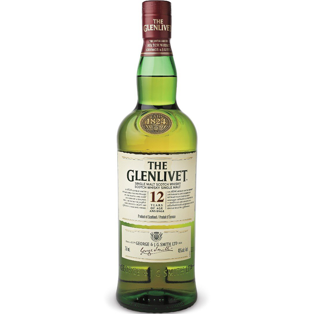 Glenlivet 12 Years Single Malt Scotch Whisky (1L)
