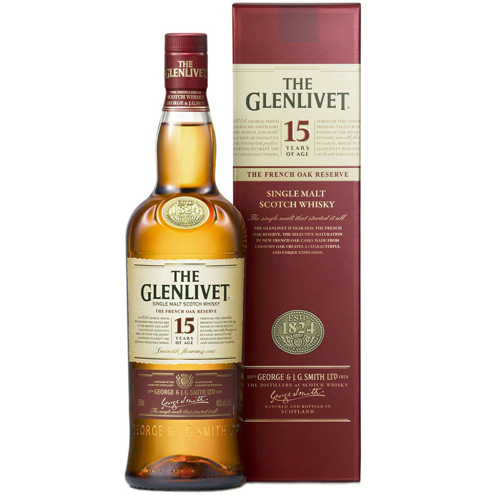 Glenlivet 15 Years Single Malt Scotch Whisky (750ml)