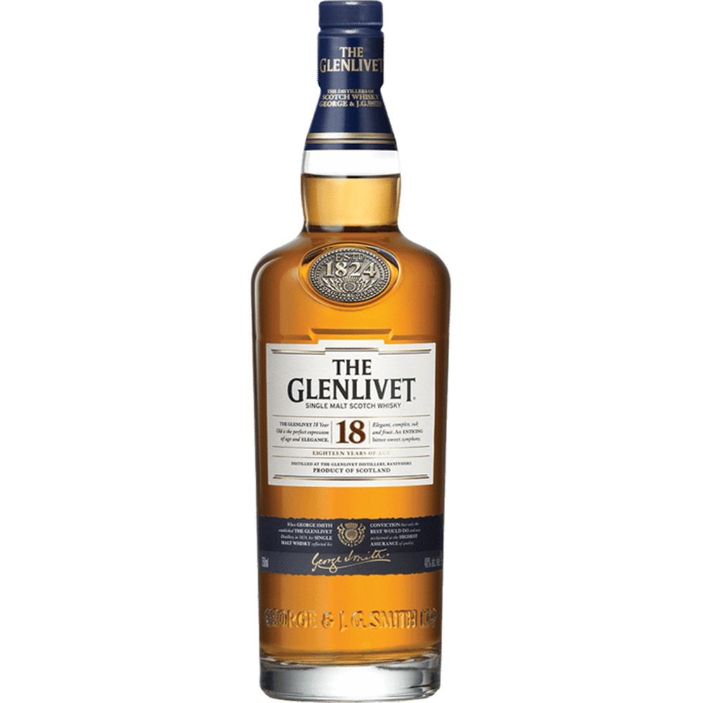 Glenlivet 18 Years Single Malt Scotch Whisky (750ml)