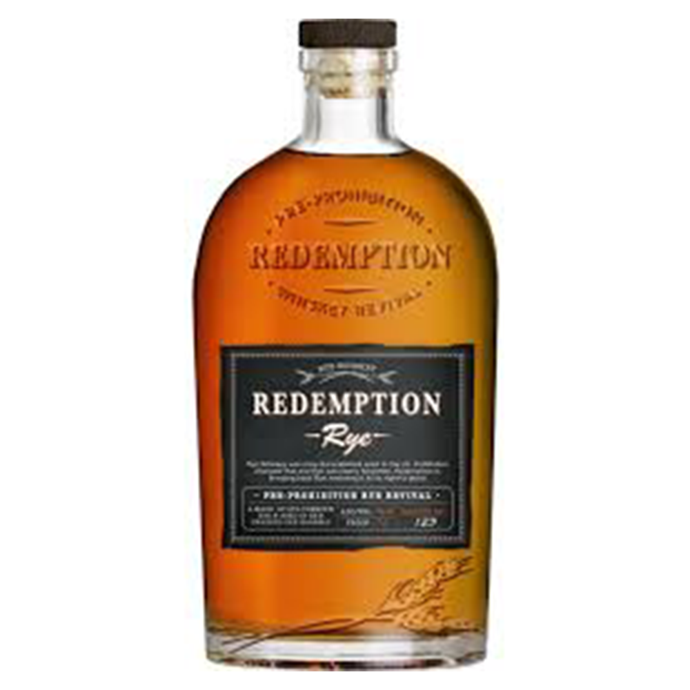 Redemption Straight Rye Whiskey 750ml Bottle