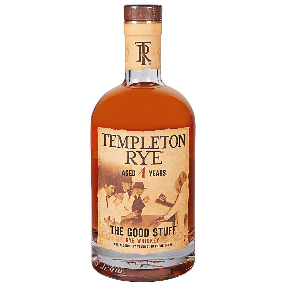 Templeton Rye Whiskey Aged 4 Years (750ml Bottle)