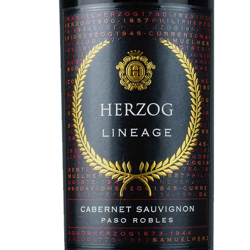 Baron Herzog Cabernet Sauvignon Lineage - Zoomed In