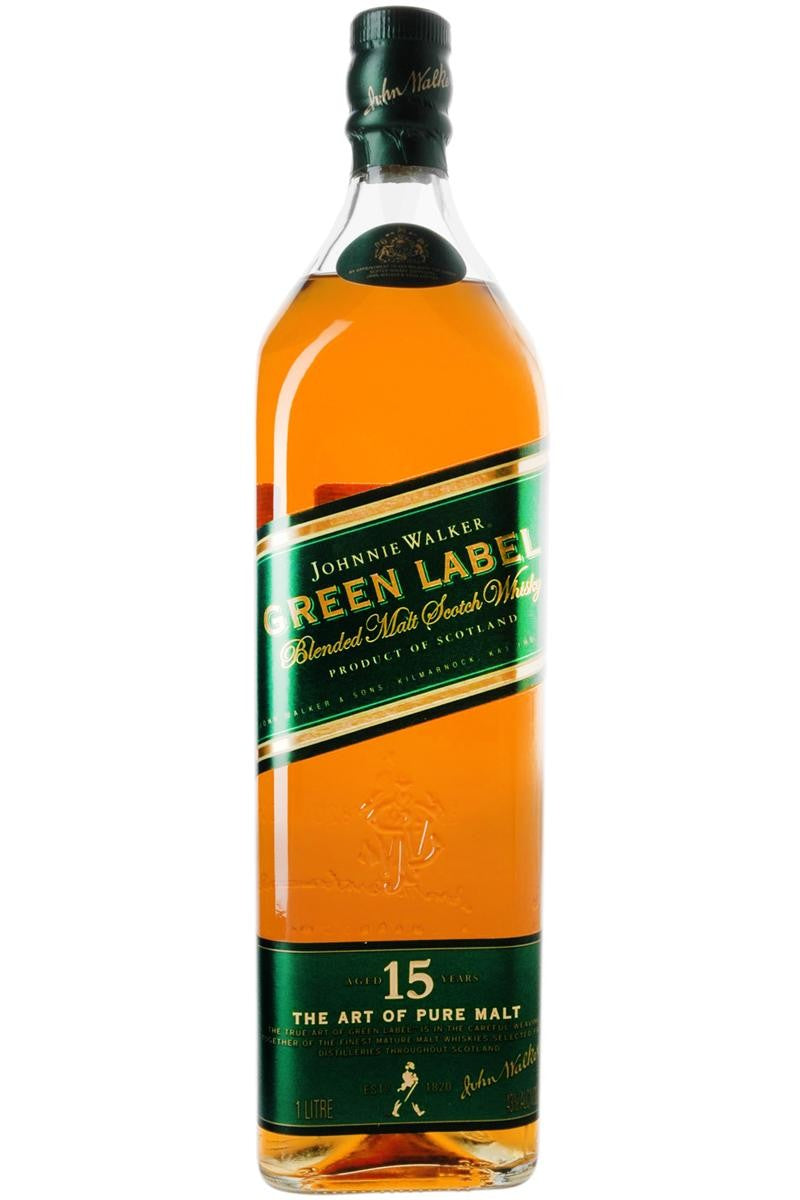 Johnnie Walker Green Label Blended  Malt Scotch Whiskey 15 Year (750ml)