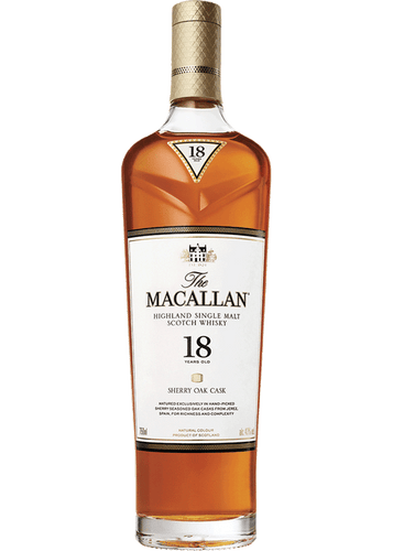 Macallan Highland Single Malt Scotch Whiskey 18 Year (750ml)