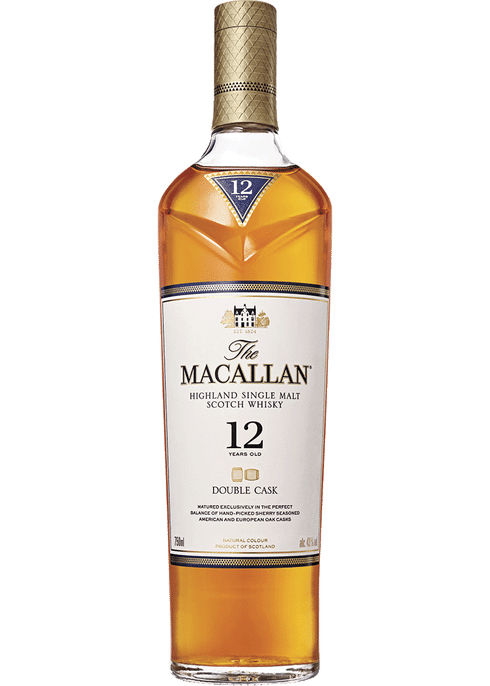 Macallan Highland Single Malt Scotch Whiskey 12 Year Double Cask (750ml)