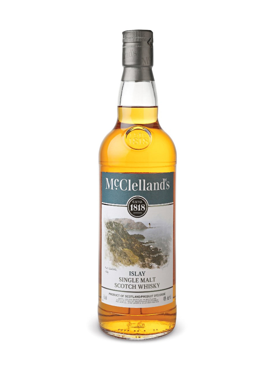 MçClellands Lowland Single Malt Scotch Whisky (750ml Bottle)
