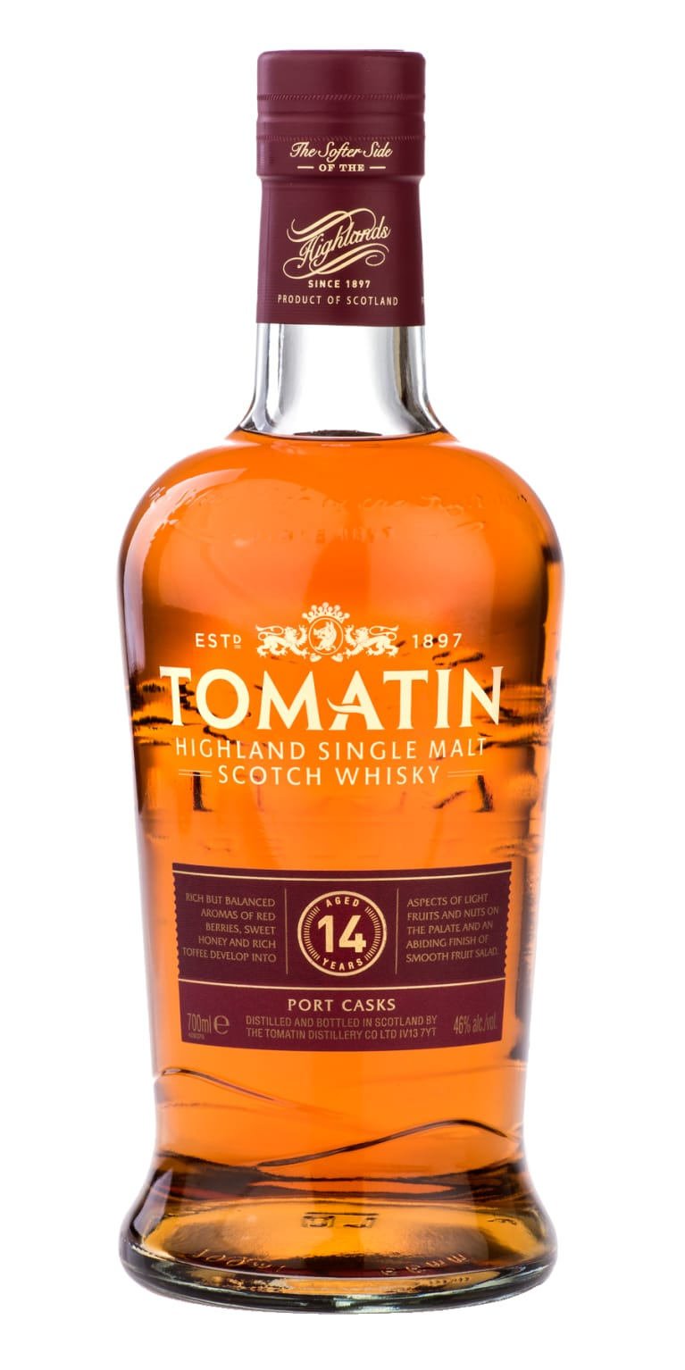 Tomatin Highland Single Malt Scotch Whisky Port Casks 14 Year (750ml)