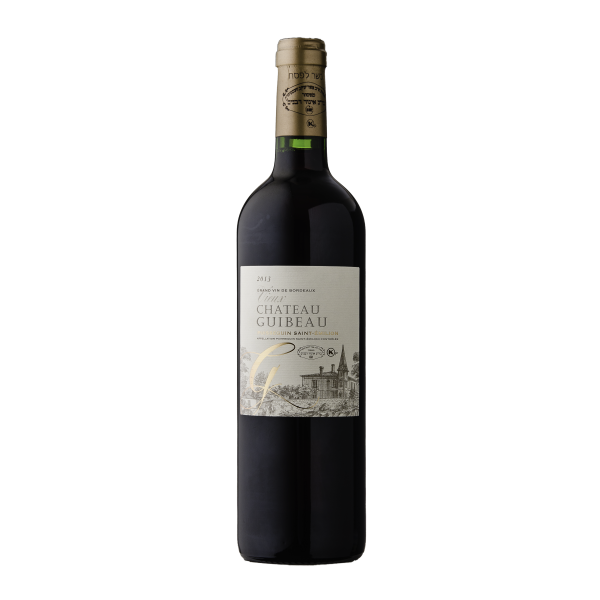 Grand Vin De Bordeaux Vieux Chateau Guibeau Puisseguin Saint-Emillion Kosher Red Wine (750ml)