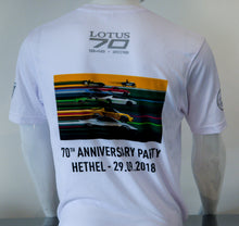 Load image into Gallery viewer, Lotus 70th anniversary white T-Shirt - SALE