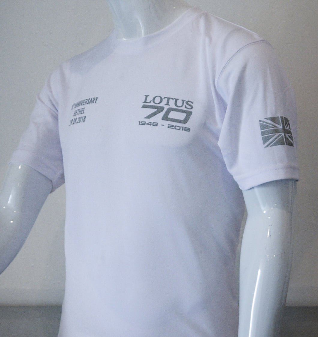 Lotus 70th anniversary white T-Shirt - SALE