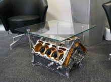 Load image into Gallery viewer, Lotus V8 Esprit Engine Glass Table