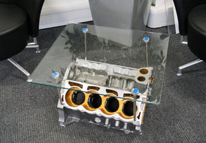Lotus V8 Esprit Engine Glass Table