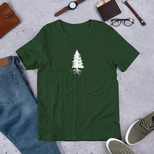 Fir Tree Tee/ Qua;ity Short-Sleeve Unisex T-Shirt