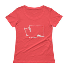 Load image into Gallery viewer, WA Jeep Tee/ Anvil Ladies Sheer Scoopneck T-Shirt with Tear Away Label