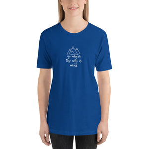 Go Where The WIFI Is Waek/ Quality Short-Sleeve Unisex T-Shirt