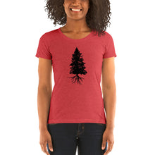 Load image into Gallery viewer, Fir Tree Ladies' short sleeve Bella t-shirt