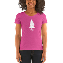 Load image into Gallery viewer, Fir Tree Ladies' short sleeveBella  t-shirt