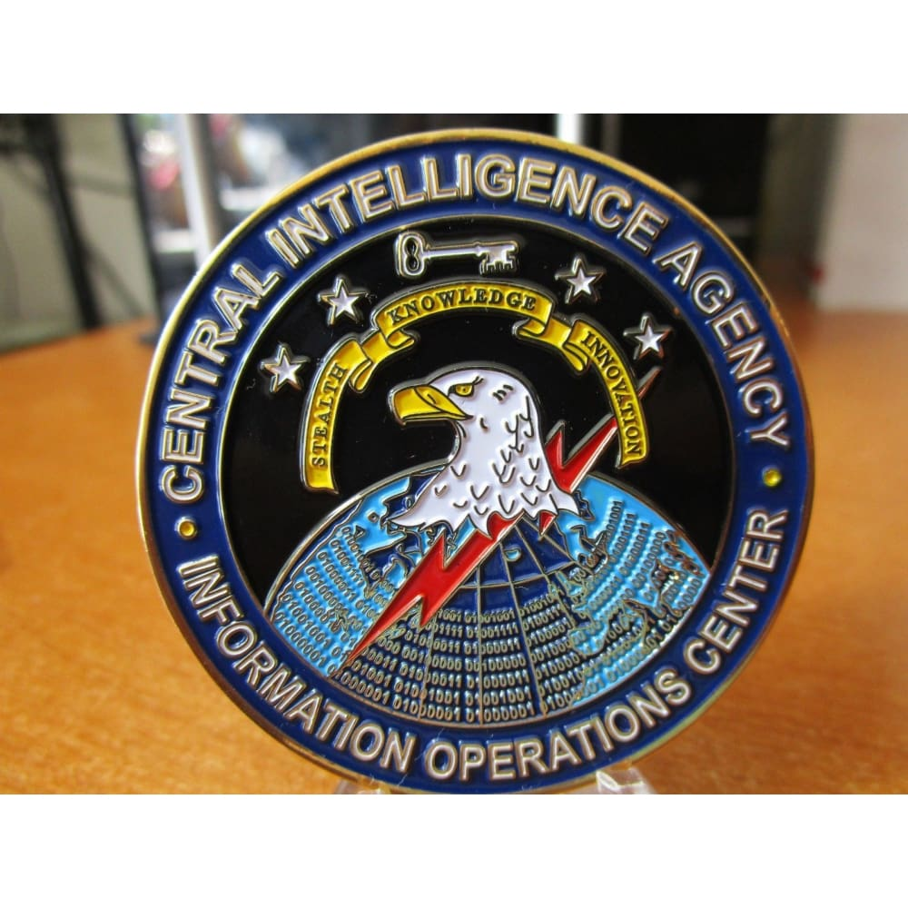 CIA Information Operations Center IOC Cyber Security Spy vs Spy Challenge  Coin
