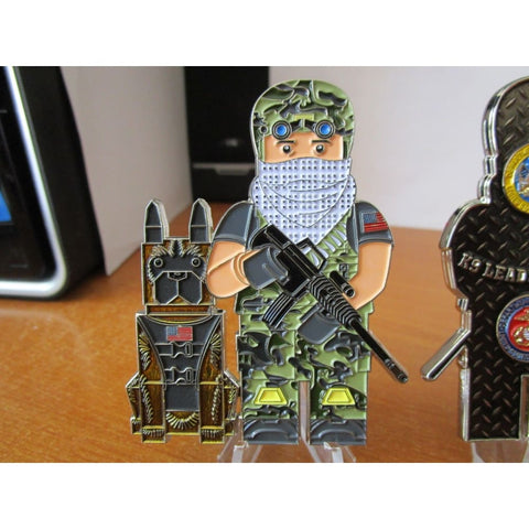 Legoman Master at Arms Military Police Security Forces SF MP's K9 Challenge  Coin