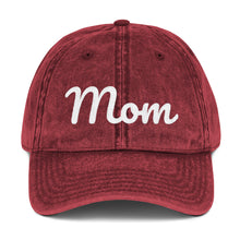 Load image into Gallery viewer, Embroidered Mom Vintage Cap (available in multiple colors)