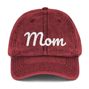 Embroidered Mom Vintage Cap (available in multiple colors)