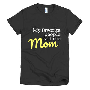 Mom t-shirt women's fit (available in navy, black or gray)