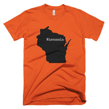 Load image into Gallery viewer, Wisconsin Premium Short Sleeved - T-Shirt State Name Collection