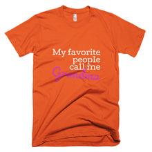 Load image into Gallery viewer, Grandma favorite people customizeable T-Shirt (available in multiple colors)