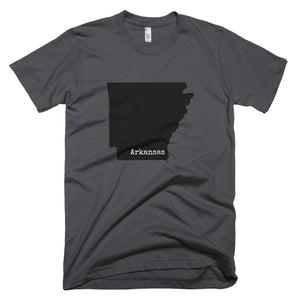 Arkansas Premium Short Sleeve Unisex T-Shirt - State Name Collection (available in multiple colors)