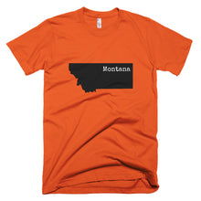 Load image into Gallery viewer, Montana Premium Short Sleeve Unisex T-Shirt - State Name Collection (available in multiple colors)