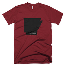 Load image into Gallery viewer, Arkansas Premium Short Sleeve Unisex T-Shirt - State Name Collection (available in multiple colors)