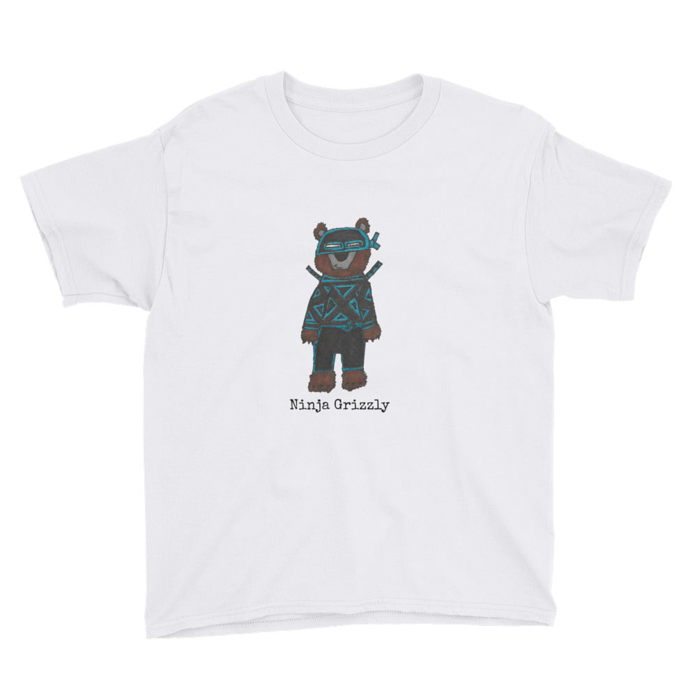 Ninja Grizzly Premium Youth T-Shirt (available in multiple colors)
