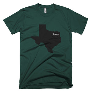Texas Premium Short Sleeve Unisex T-Shirt - State Name Collection (available in multiple colors)