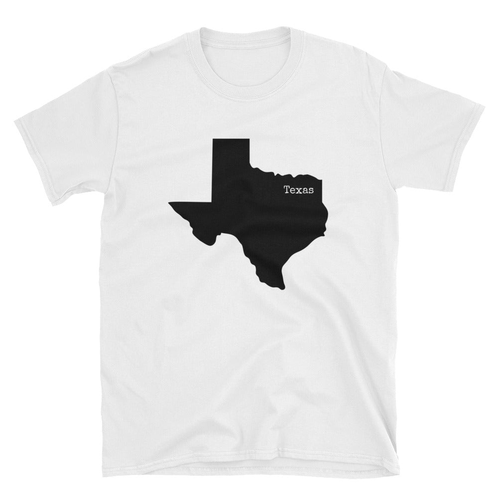 Texas Value Short-Sleeve Unisex T-Shirt - State Name Collection (available in white or gray)