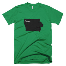 Load image into Gallery viewer, Iowa Premium Short Sleeve Unisex T-Shirt - State Name Collection (available in multiple colors)