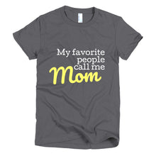 Load image into Gallery viewer, Mom t-shirt women's fit (available in navy, black or gray)